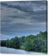 Early Moon Canvas Print