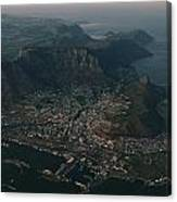 Early Morning Aerial View Of Cape Town Canvas Print