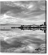 Early Morning At Inverary Black And White Version Canvas Print