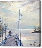 Early Morning In Lake Shore Canvas Print
