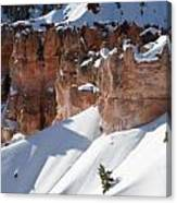 Early Morning Snow In Bryce Canyon Canvas Print