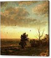 Early Morning Sunrise On The Praires Canvas Print