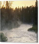 Early Morning View Of Crescent Creek Canvas Print