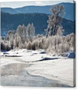 Early Morning, Yampa River, Steamboat Springs Canvas Print