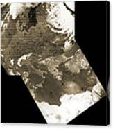 Early Weather Satellite Images Canvas Print