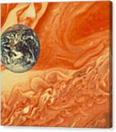 Earth And Jupiter Canvas Print