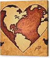 Earth Day Gaia Celebration Digital Art Canvas Print