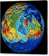 Earth: Topography Canvas Print