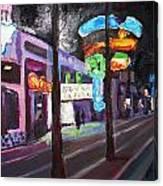 East Fremont St Colors Canvas Print