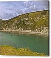 East Lulworth Cove Panorama Canvas Print