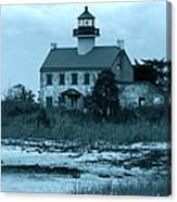 East Point Light In The Clouds Canvas Print