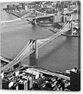 East River Bridges New York Canvas Print