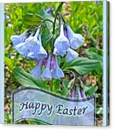 Easter Card - Virginia Bluebells Canvas Print