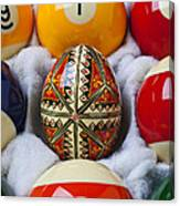 Easter Egg Among Pool Balls Canvas Print