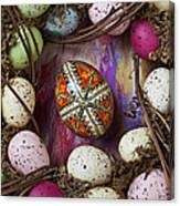 Easter Egg With Wreath Canvas Print