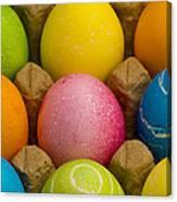 Easter Eggs Carton 2 A Canvas Print