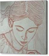 Easter Girl Canvas Print