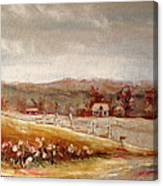 Eastern Townships Quebec Painting Canvas Print
