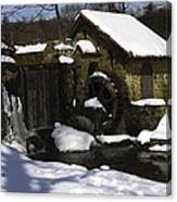 Eastern University Waterwheel Historic Place Canvas Print