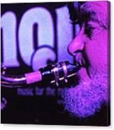 Ed Lynman On Blues Sax Canvas Print
