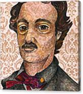 Edgar Allan Poe After The Thompson Daguerreotype Canvas Print