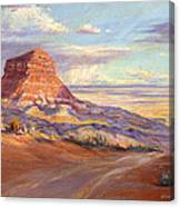 Edge Of The Desert Canvas Print