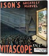 Edisons Vitascope, 1896 Canvas Print