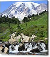 Edith Creek Mt Rainier Wa Canvas Print