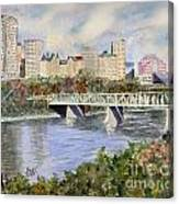 Edmonton Skyline Canvas Print
