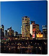 Edmonton Skyline Panorama 2 Canvas Print