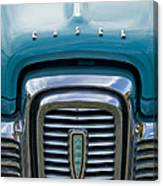 Edsel Corsair Grille Emblem Canvas Print