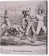 Effects Of The Fugitive-slave-law Canvas Print