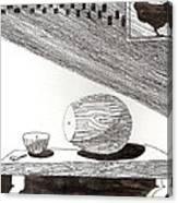 Egg Drawing 019613 Canvas Print