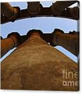 Egypt Luxor Pillars Canvas Print