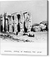 Egypt: Ramesseum Canvas Print
