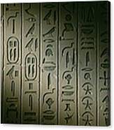 Egyptian Hieroglyphics Decorate Canvas Print