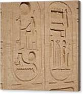Egyptian Writing Canvas Print