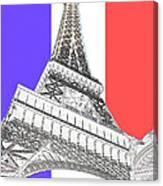Eiffel De Gaul Canvas Print
