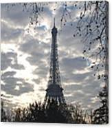 Eiffel In The Morning Canvas Print