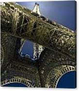 Eiffel Tower At Night,directly Below Canvas Print