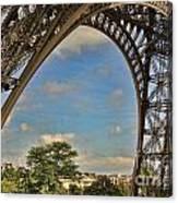 Eiffet Tower Up Close Canvas Print