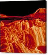 Eistla Regio Of Venus Canvas Print