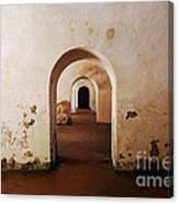 El Morro Fort Barracks Arched Doorways San Juan Puerto Rico Prints Canvas Print