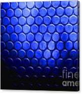 Electric Blue Circle Bumps Canvas Print