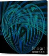 Electric Blue Heart Canvas Print