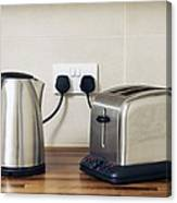 Electric Kettle And Toaster Canvas Print