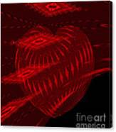 Electric Red Heart 3 Canvas Print