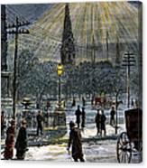 Electric Streetlight, 1881 Canvas Print
