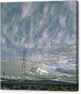 Electric Transmission Lines Canvas Print