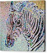 Electric Zebra Canvas Print